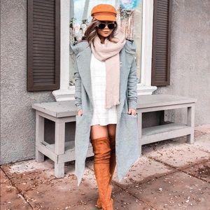 Jackets & Blazers - Oversized hooded long jacket